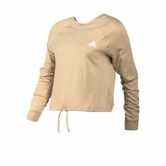 Buzo Adidas Essentials Cropped Dance Mujer Beige