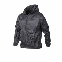 Buzo Rompeviento Medio Cierre Topper Running Crinkled Negro