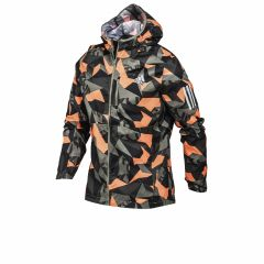 Campera Rompeviento Con Capucha Adidas Running Own The Run Verde
