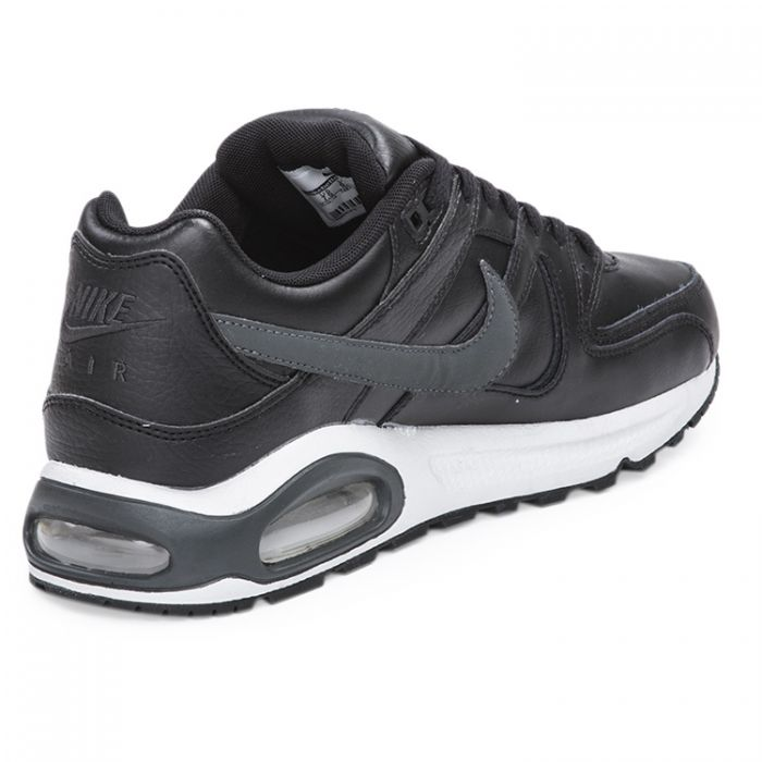 Zapatillas Nike Air Max Command Leathe Negro y Gris Oscuro